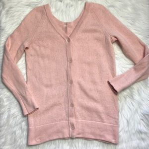 Kate Spade Saturday Pink Button Back Bff cardigan